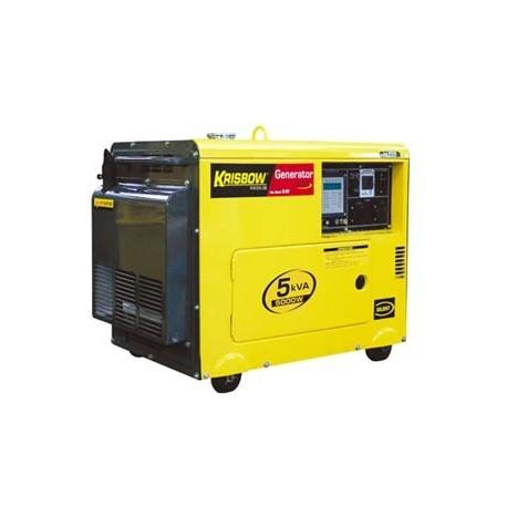 Krisbow KW2600008 KW2608 Diesel Generator 5kVA4000W1PH