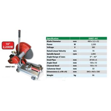 Krisbow Kw0700441 Hd Cutt Of Machine 16in Rt 10003890
