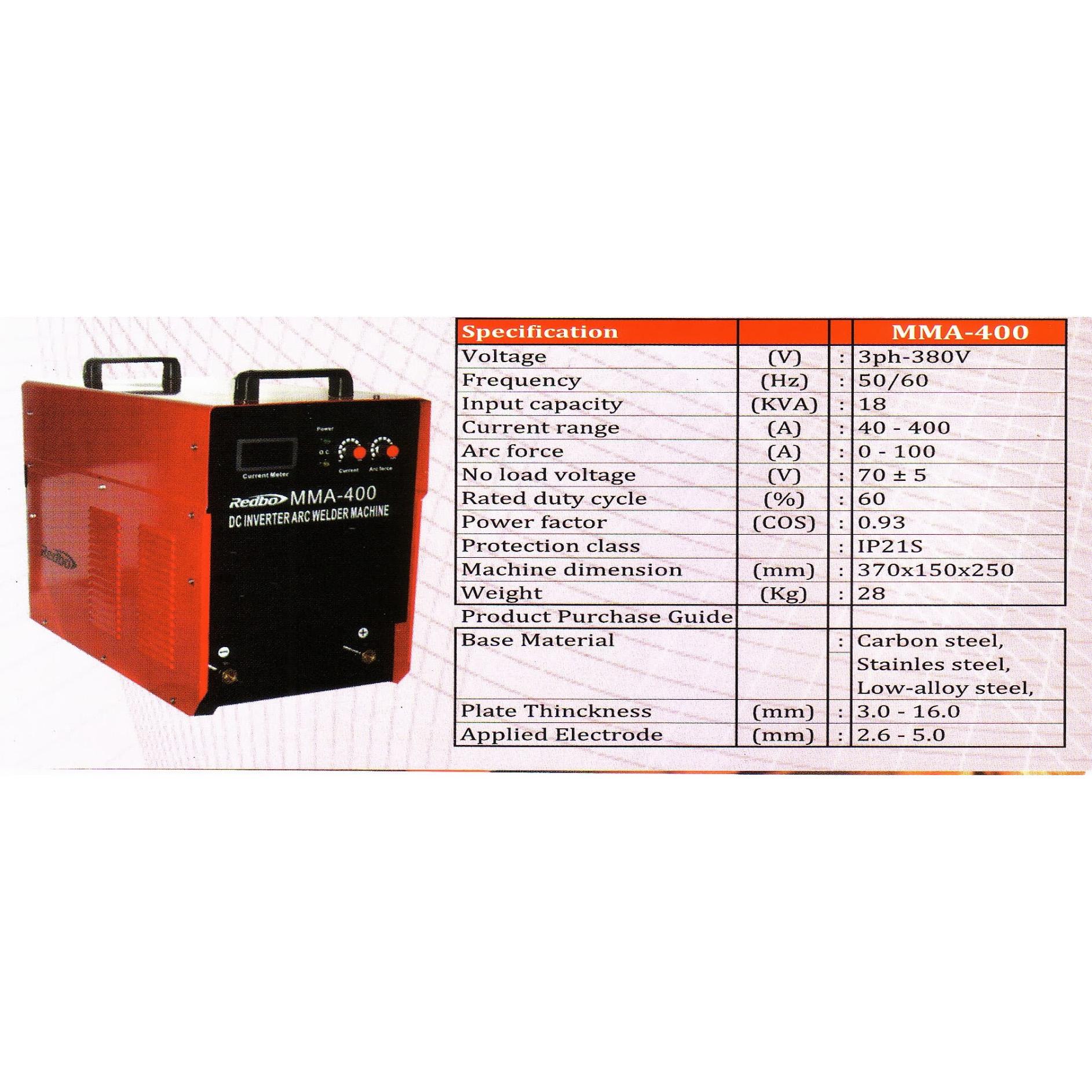 Harga Jual Redbo Mma 400 Mesin Las 400a Arc 160 Riland Inverter Pengelasan Welding Adalah Merupakan Salah Satu Teknik Penyambungan Logam Melalui Cara Pencairan Sebagian Induk Dan Pengisi