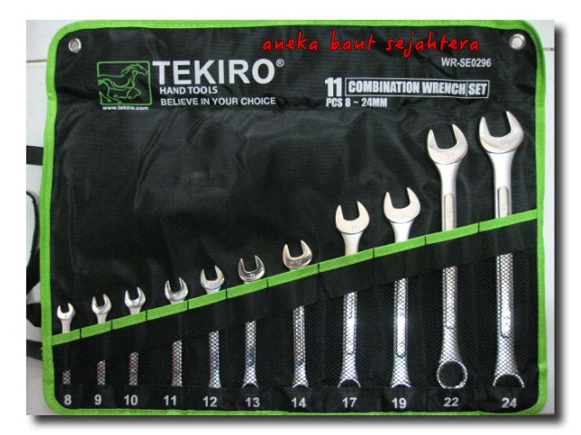 Spesifikasi Tekiro 11PCS-8-24MM Kunci Ringpas Set