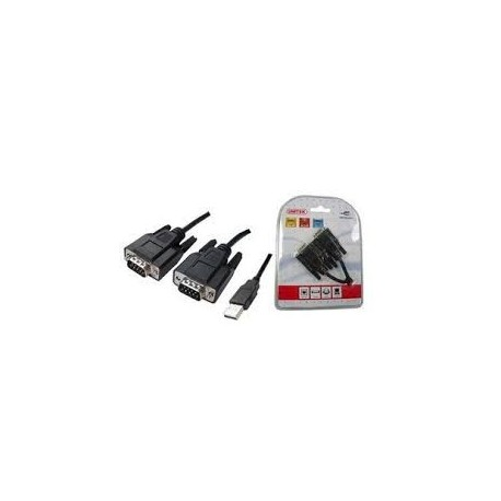 UNITEK Y-106 USB TO DUAL SERIAL CABLE