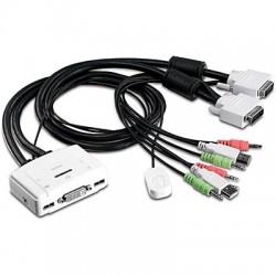 TRENDnet TK-214 2-Port DVI USB KVM Switch Kit with Audio