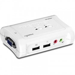 TRENDnet TK-209K 2-Port USB KVM Switch Kit with Audio
