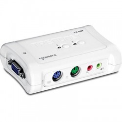 TRENDnet TK-208K 2-Port PS/2 KVM Switch Kit with Audio