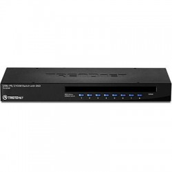 TRENDnet TK-804R 8-Port Stackable Rack Mount KVM Switch with OSD