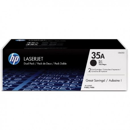 Toner CB435AD For HP LaserJet P1006 Black Crtg Dual Pack