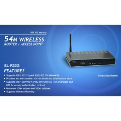 Blue Link BL-AW10G Wireless ADSL2 Modem Router 4 Port Antenna 3 dBI