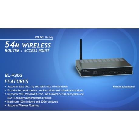 Blue Link BL-AW10G Wireless ADSL2 Modem Router 4 Port Antenna 3 dBI
