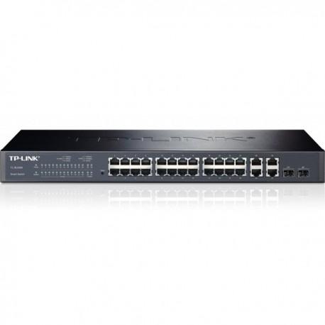 TP Link WEB 24 4G GIGABIT-UPLINK WEB-sMART 24 PORT RJ452 10 100M RJ45 2 SFP EXPANSION SLOT MANAGEABLE SL2428