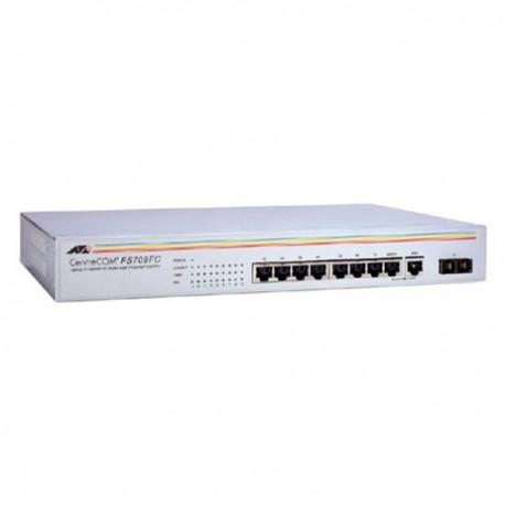 Allied Telesis AT-FS709FC Desktop Switch 8 Port 10/100 1x100 FX/SC