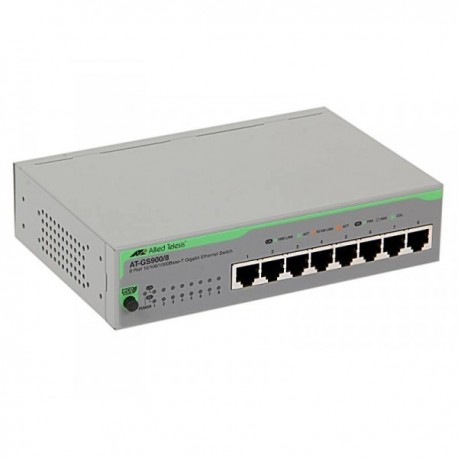 Allied Telesis AT-GS900/8 Switch 8 Port Gigabit 10 100 1000 Unmanaged