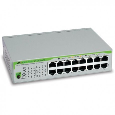 Allied Telesis AT-GS900/16 Switch 16 Port Gigabit 10/100/1000 Unmanaged
