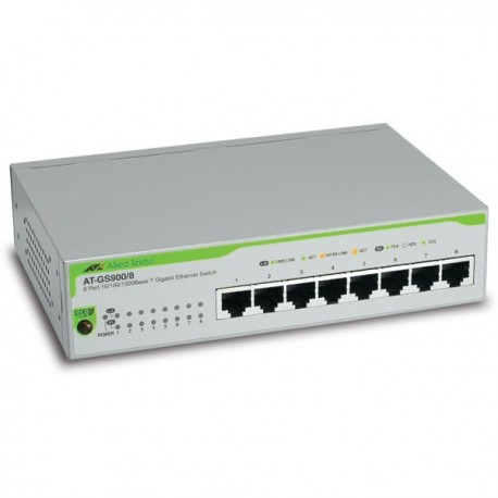 Allied Telesis AT-GSW900/8 Switch 8 Port Gigabit 10/100/1000 Unmanaged