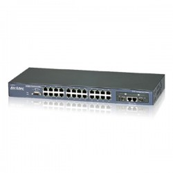 Airlive FSH2602MG 19 Inch SNMP Managed Switch 24 Port 10/100Mbps 2Port 1000Base-T 2Port Mini-GBIC