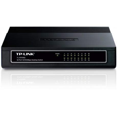 TP LINK TL-SF1016D Switch 16 Port 10 100 Plastic Case