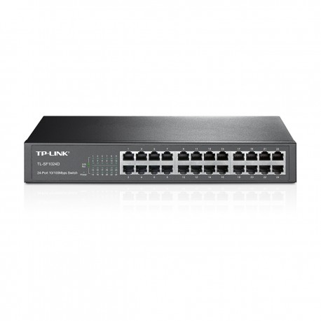 TP Link TL-SF1024D Switch 24 Port 10 100 RackMount Size 19 inch