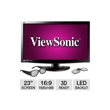 Viewsonic 23 Inch V3D231 3D LED Speaker-DVI HDMI