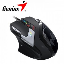 Genius DeathTaker Gaming Mouse 9-Button, 55 Macros, 100~5700 dpi, Weight-in