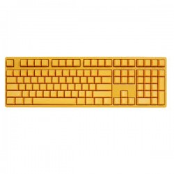 Ducky DK9008S3-QUSPTYYY1 Shine III Yellow Edition 108keys, Cherry switch, White base, Black keycaps, Yellow LED