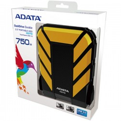 Adata AHD710750GU3CBK HD710 750GB Antishock Waterproof USB 3.0 Hardisk External