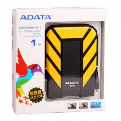 Adata AHD710-1TU3-CYL HD710 1TB Antishock  Wateroof USB 3.0 Hardisk Eksternal