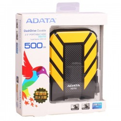 Adata AHD710-500GU3-CBL HD710 500GB Antishock  Wateroof USB 3.0 Hardisk External