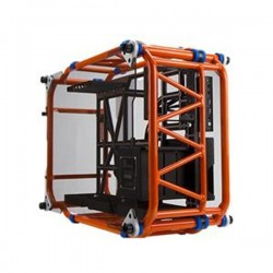 In Win D-FRAME Orange Aluminum ATX Desktop Casing