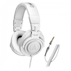 Audio Technica ATH M50CWH , Monitoring Headsets , White