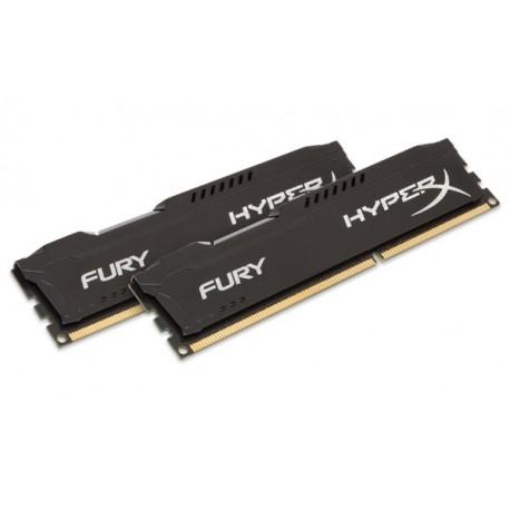 Kingston HX318C10FBK2/8 Hyper X Fury DDR3 PC15000 8GB (Dual Channel Kit 4GB x 2) (Black Heatspreader) Memory