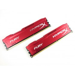 Kingston Hyper X Fury DDR3 PC15000 8GB - HX318C10FRK2/8 (Dual Channel Kit 4GB x 2) (Red Heatspreader) Memory