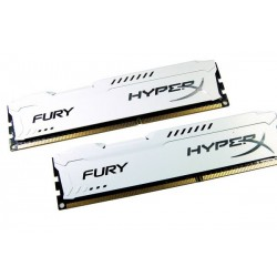Kingston Hyper X Fury DDR3 PC15000 16GB - HX318C10FWK2/16 (Dual Channel Kit 8GB x 2) (White Heatspreader) Memory