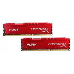 Kingston Hyper X Fury DDR3 PC15000 16GB - HX318C10FRK2/16 (Dual Channel Kit 8GB x 2) (Red Heatspreader) Memory
