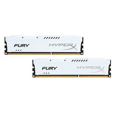 Kingston Hyper X Fury DDR3 PC15000 8GB - HX318C10FWK2/8 (Dual Channel Kit 4GB x 2) (White Heatspreader) Memory