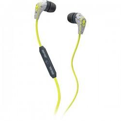 SkullCandy S2FFFM-319 50/50 IN-EAR W/MIC 3 Hotlime/Gray Headset