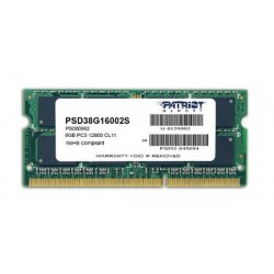 Patriot SO-DIMM DDR3 PC12800 8GB - PV3 8G 160 LC9S (1x8GB) Memory