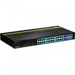 TRENDnet TPE-224WS 24-Port 10/100 Mbps Web Smart PoE+ Switch