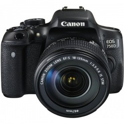 Canon EOS 750D Kit II (EF-S18-135mm IS STM) Camera Digital