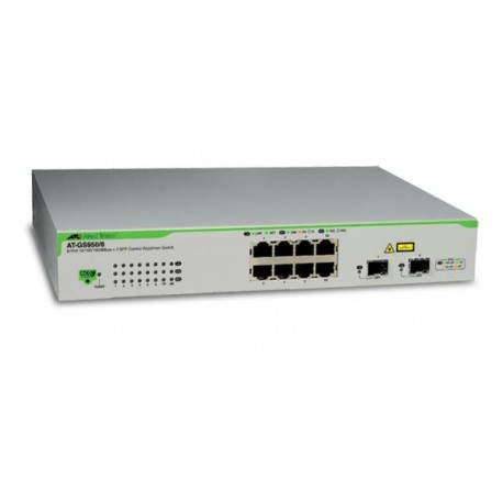 Allied Telesis AT-GS950/8 WeB-smart Switch 8 Gigabit 10 100 1000 2 SFP