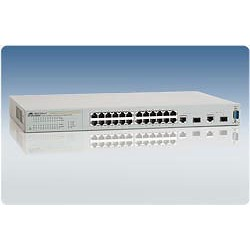 Allied Telesis AT-FS750/24 WeB-smart Switch 24 Port 10/100 2 Gigabit SFP