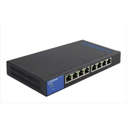 Linksys LGS108P 8-Port Business Desktop Gigabit PoE+ Switch  Unmanaged Switches