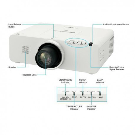 Panasonic PT-EZ570 Proyektor WUXGA 1920x1200 5000 Ansi Lumens LCD Technology