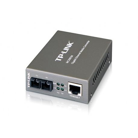Gigabit Ethernet Media Converter 10 1000M Base RJ45 to1000M Single mode SC Fiber ConnectorExternal AC Adaptor MC200CM