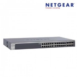 Netgear GS728TSB-100AJS ProSafe 24 Port Gigabit Stackbale Smart Switch Bundle