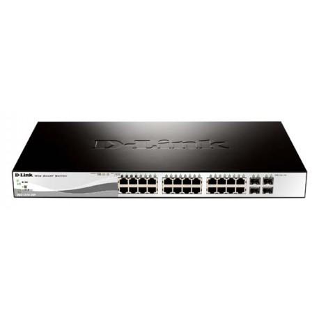 D-Link DGS-1210-28P 24-Port Gigabit Web Smart PoE Switch