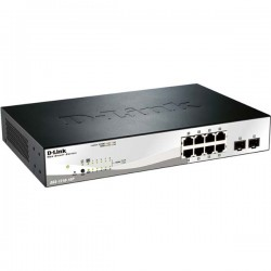 D-Link DGS-1210-10P/E 8-port UTP 10/100/1000Mbps 4-port UTP Gigabit with SFP (Mini-GBIC)