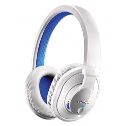 Philips SHB7000WT Headset Over-ear stereo Bluetooth Putih