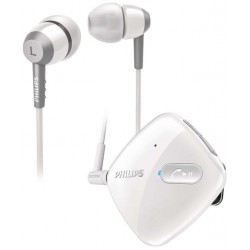 Philips SHB5000WT Headset Stereo Bluetooth Clip-on Nirkabel
