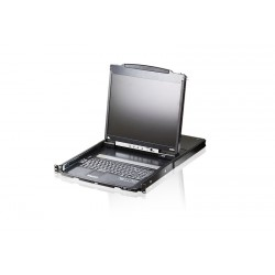 Aten CL5800 PS/2-USB VGA Dual Rail LCD Console with USB Peripheral Support