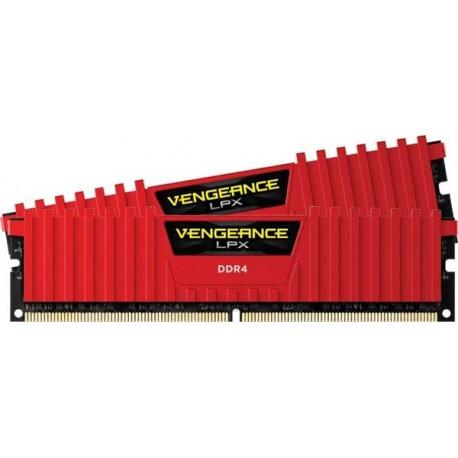 Corsair CMK32GX4M2B3200C16R Memory Red Vengeance LPX 32GB 3200MHz DDR4