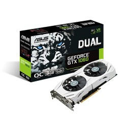 Asus DUAL-GTX1060-O3G 3GB Dual-Fan OC Edition Graphics Card